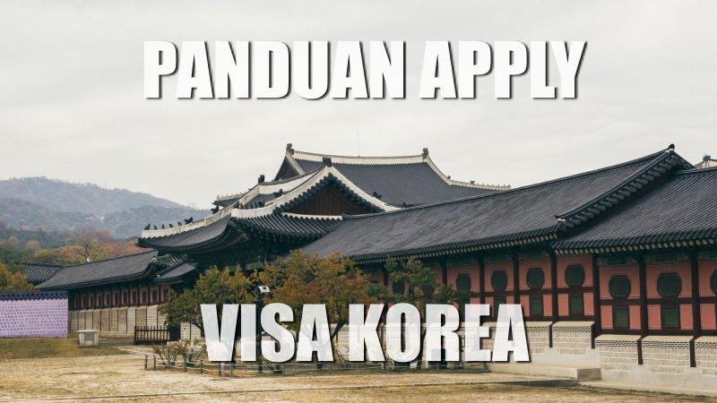 cara apply visa korea